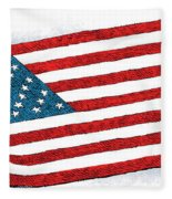 Trump Sweeps Under The Flag Rug Fleece Blanket