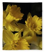 Trumpet Daffodils Fleece Blanket