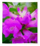 Trumpet Flower 1 Fleece Blanket