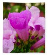 Trumpet Flower 5 Fleece Blanket