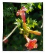 Trumpet Flower Fleece Blanket