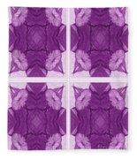 Trumpet Flowers In Abstract Fleece Blanket