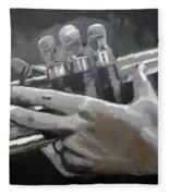 Trumpet Hands Fleece Blanket