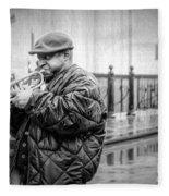 Trumpet In The Rain 2 - Nola Fleece Blanket