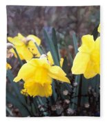 Trumpets Of Spring Fleece Blanket