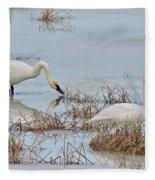 Trumpter Swans 8182 Fleece Blanket