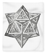 Truncated And Elevated Hexahedron With Open Faces Fleece Blanket