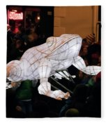 Truro Lantern Parade Frog Fleece Blanket
