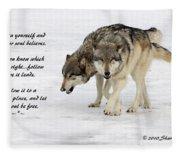 Trust In Yourself Fleece Blanket