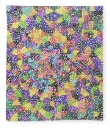 Try Angles Of Circles Fleece Blanket