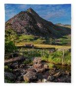 Tryfan Mountain Valley Fleece Blanket