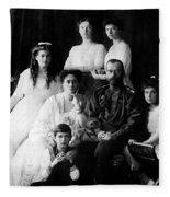 Tsar Nicholas II And His Family - 1913 Fleece Blanket