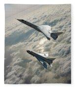 Tsr.2 Advanced Bomber And Lightning Interceptor Fleece Blanket