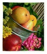 Tub Of Apples Fleece Blanket