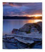 Tubbs Hill Sunset Fleece Blanket