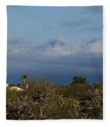 Tucson In Winter Fleece Blanket