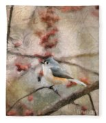 Tufted Titmouse 2 Fleece Blanket
