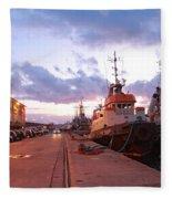 Tug Boats Fleece Blanket