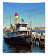 Tugboat Baltimore At The Museum Of Industry Fleece Blanket