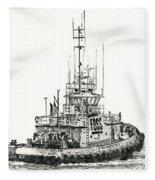 Tugboat Daniel Foss Fleece Blanket