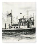 Tugboat Henrietta Foss Fleece Blanket