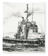 Tugboat Kelly Foss Fleece Blanket