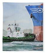 Tugboat Leo Foss Fleece Blanket