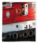 Tugboat Fleece Blanket