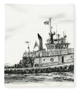 Tugboat Shelley Foss Fleece Blanket
