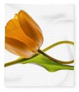Tulip Art On White Background Fleece Blanket