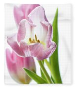 Tulip Bloom 3 Fleece Blanket
