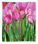 Tulip Bloomies 1 - Pink Fleece Blanket