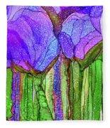 Tulip Bloomies 4 - Purple Fleece Blanket