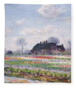 Tulip Fields At Sassenheim Fleece Blanket