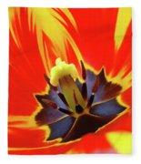 Tulip Flower Floral Art Print Red Yellow Tulips Baslee Troutman Fleece Blanket