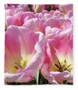 Tulip Flowers Garden Art Pink Tulips Baslee Troutman Fleece Blanket