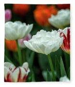 Tulip Flowers Fleece Blanket by Pradeep Raja Prints
