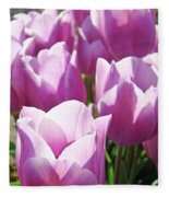 Tulip Garden Flowers Purple Lavender Pastel Art Baslee Troutman Fleece Blanket