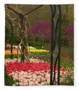 Tulip Garden  Fleece Blanket