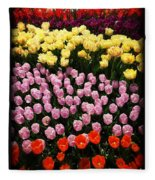 Tulip Greeting Card Fleece Blanket