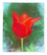 Tulip In Abstract. Fleece Blanket