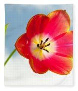 Tulip In The Sky Fleece Blanket