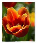 Tulip On Fire Fleece Blanket
