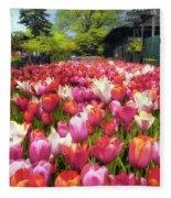 Tulip Parade Fleece Blanket