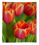 Tulip Patch Fleece Blanket
