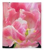 Tulip Peppermint Pink Fleece Blanket