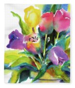 Tulip Pot Fleece Blanket