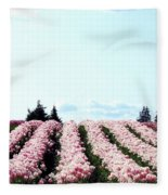 Tulip Town 10 Fleece Blanket