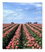 Tulip Town 12 Fleece Blanket