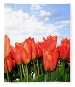 Tulip Town 17 Fleece Blanket